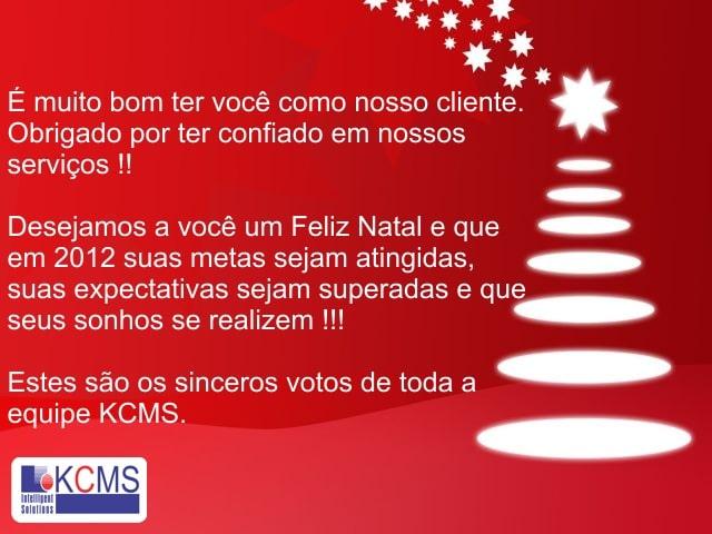 Mensagem Natal KCMS 2012