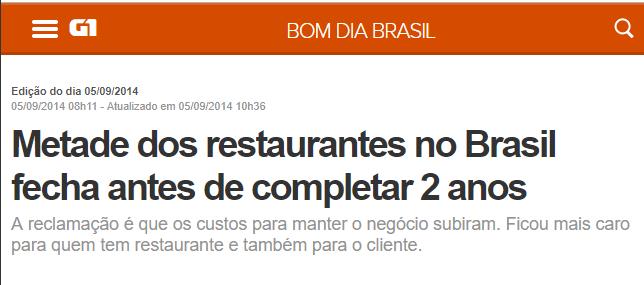 Restaurantes fecham após dois anos em operação