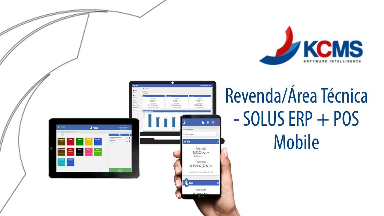 Revenda/Área Técnica - SOLUS ERP + POS Mobile